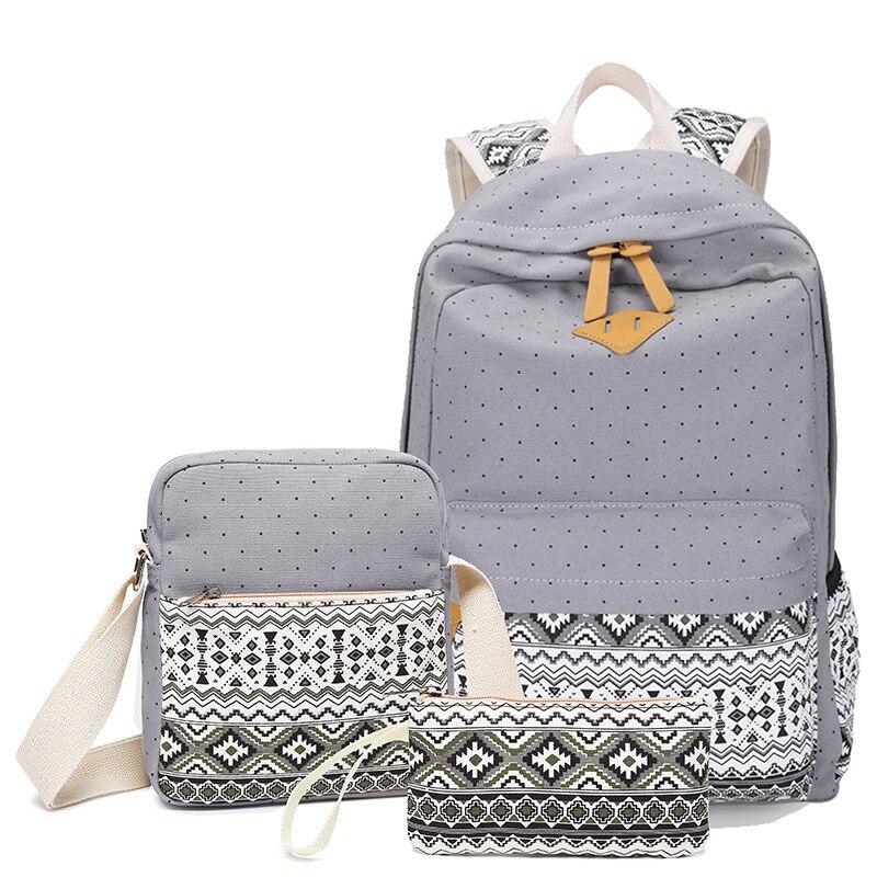 Winner Stylish Canvas Printing Backpack Women School Bags for . ce29e9b97d3bb
