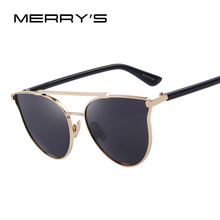 MERRY'S Fashion Brand Cat Eye Sunglasses Women Classic Designer Sun Glasses Double-Bridge Shades UV400 S'8092