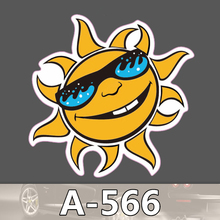 Bevle A-566 Sonnenlicht Wasserdichte Kühle DIY Aufkleber Für Laptop Gepäck Bike Refit Skateboard Auto Graffiti Cartoon Aufkleber