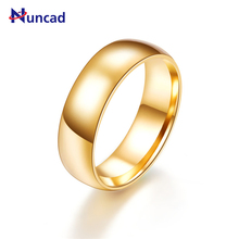 Nuncad 2017 High Polished Bague Stainless Steel Rings For Men/Women Wedding Ring Gold Color Anniversary Jewelry Bisuteria