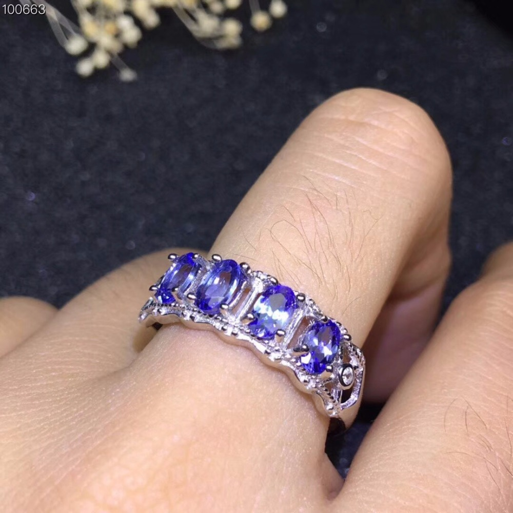 Super beautiful style natural tanzanite ring ladies ring multi grain natural stone in the mining area