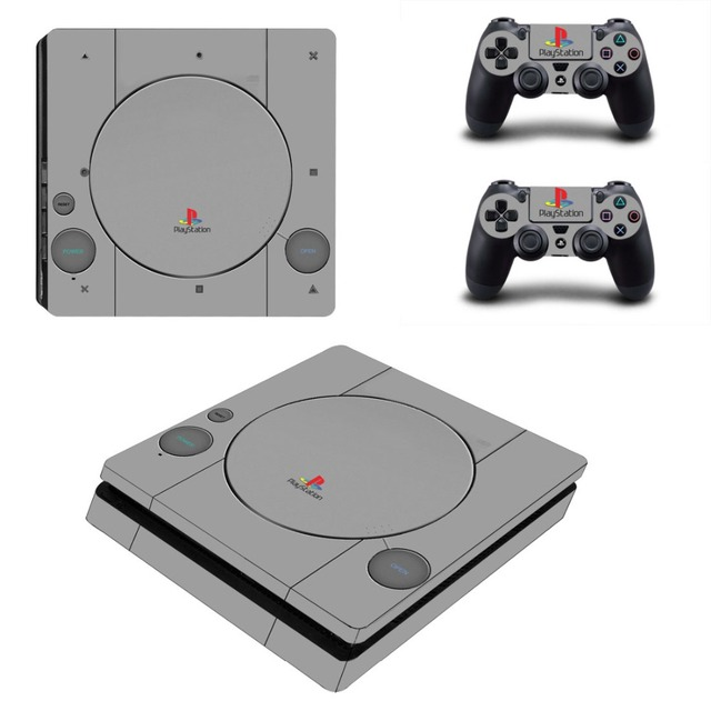 PS4 Slim Skin Sticker PS Original Style Console & Controller Decal Stickers for PS4 Slim Console and Controller
