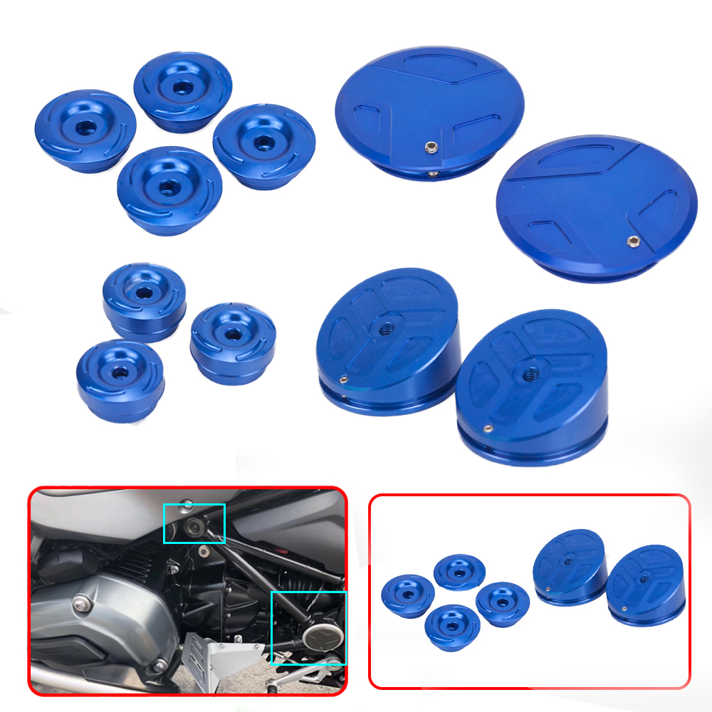 CNC Motorcycle Frame Hole Cover Caps Frame Plug Kit Frame For  R1200GS LC Adventure R 1200GS 2014 2018 R1250GS Adv R1250 GS 2019Covers