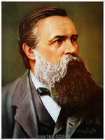 Friedrich Engels Portrait Oil Painting Home Decoration Oil painting Wall Pictures Home Decor Poster Wall art paint