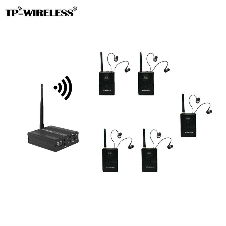 TP-WIRELESS 5 Récepteurs Sans Fil In-Ear Stéréo Sans Fil Moniteur de Scène Système Portable Dans L'oreille Moniteur