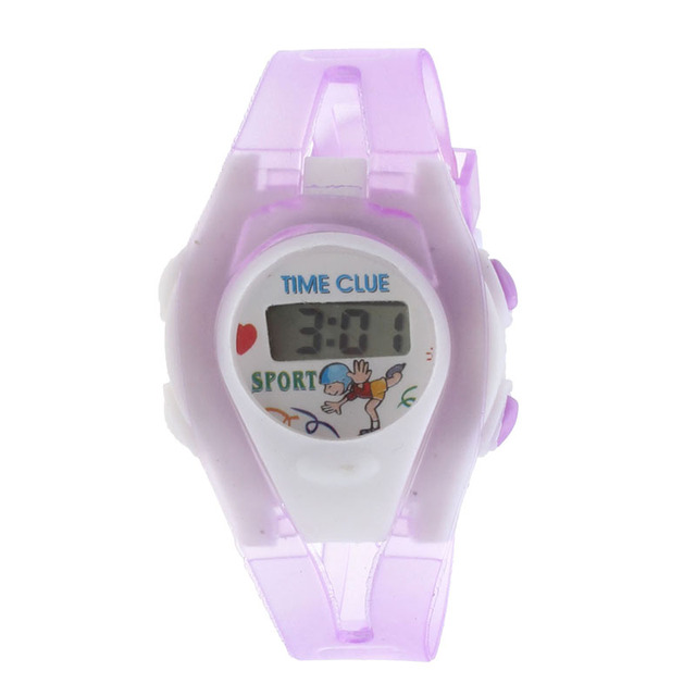 Boy Girl Student Sport Time Clock Electronic Digital LCD Wrist Watch Brand New High Quality Luxury Free Shipping #240717