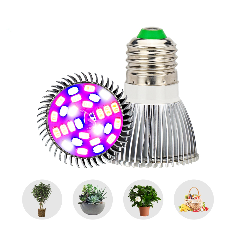E27 LED Growing Lamp Bulbs 80W 50W 30W 10W 5W AC85-265V Full Spectrum 380-780nm For Indoor Greenhouse Plants Flower Cultivation