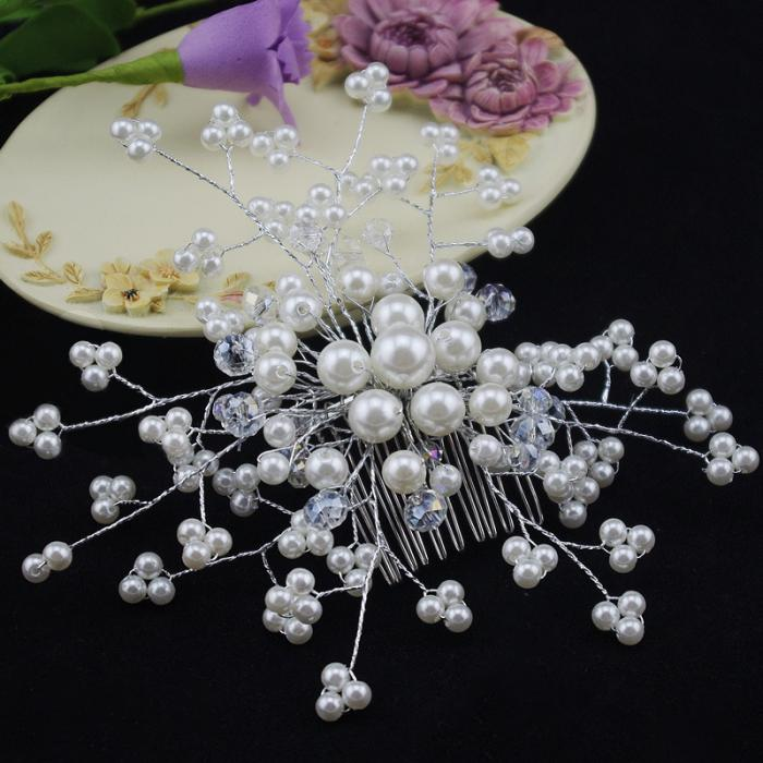 HTB11iHGJpXXXXboXFXXq6xXFXXX2 Exquisite Bridal Wedding Faux Pearl Hair Comb Accessory