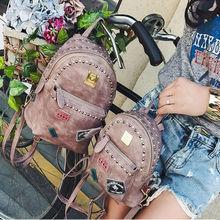 Новая коллекция Модный корейский стиль мини женщины стильный рюкзак все матч заклепки рюкзак Euramerican отдельных рюкзак