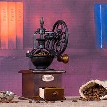 Vintage Aile Kahve Değirmeni Manuel Kahve Değirmeni El-krank Silindir Sürücü, Seramik Çapak Çekirdek, kayın Ahşap Durumda, Naylo...