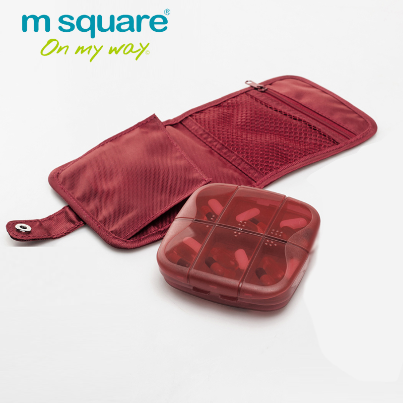 M Square Travel Tillbehör till Pillbox Mini Pill Box Organizer Containers För Pills Cases Drug Medicine Box