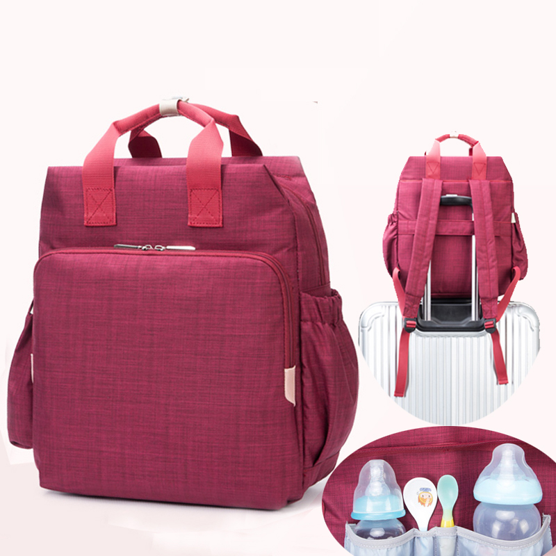New Baby Diaper Bag Fashion Mummy Maternity Nappy Bag Large Capacity Baby Bag Travel Backpack Designer Nursing Bag fashion mummy bag travel baby diaper bag large capacity multifunctional baby diaper backpack red