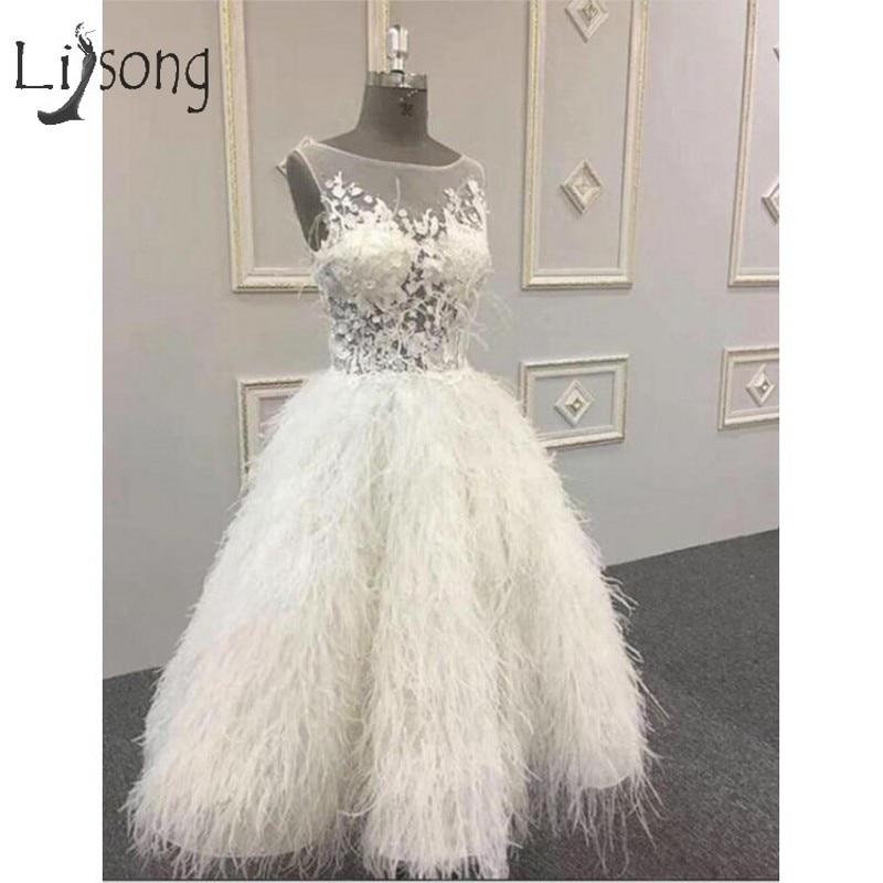 Luxury Saudi Arabic White Feather Prom Dresses 2019 Illusion Tutu 3D Flower Prom Gowns Ankle Length Formal Dress Vestidos Longo