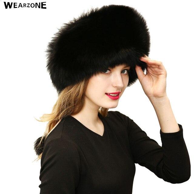 Winter Women Faux Fox Fur Ball Hats Headgear Russian Outdoor Leather Headdress Mongolia Beanies Cap 2016 New Fashion Fur Hat