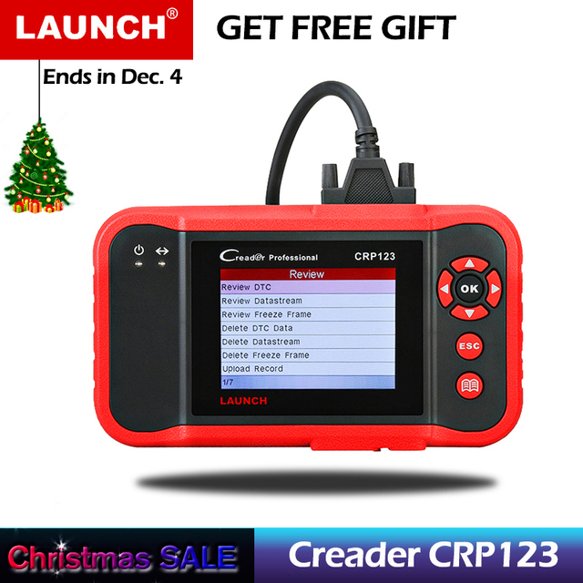 Special Offers LAUNCH Creader CRP123 Professional Code Reader Scanner OBD2/EOBD&CAN Car Diagnostic Scan Tool for Engine/AT/ABS/SRS Testing