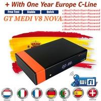 1 Year Europe Cline Genuine Freesat GTMedia V8 Nova Full HD DVB S2 Satellite Receiver Same V9 Super Upgrade From V8 Super Deco