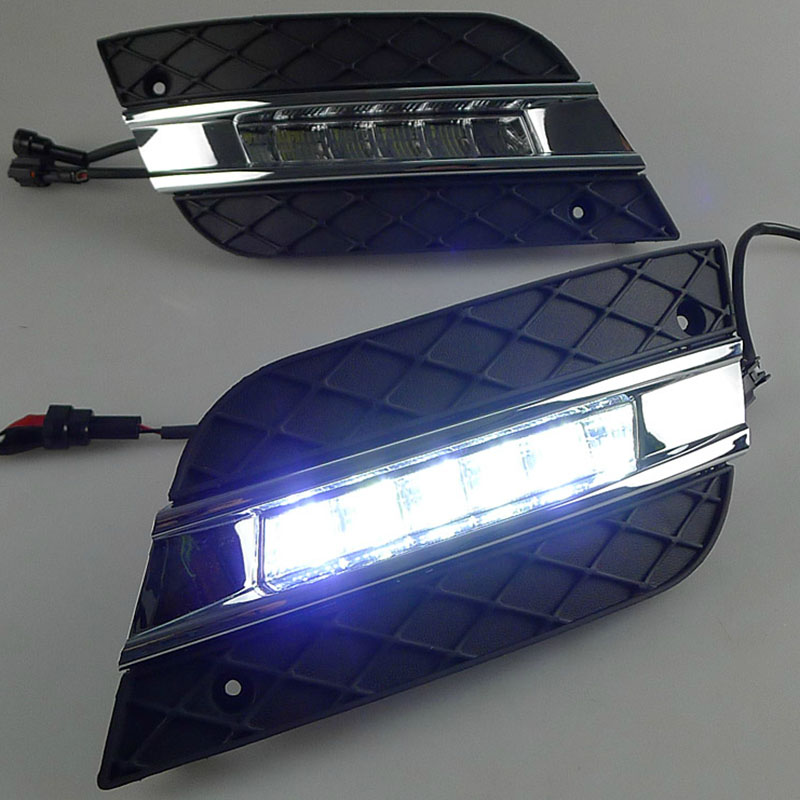 High Quality LED Daytime Driving Running Fog Light Lamp For Mercedes Benz W164 ML350 ML280 ML300 ML320 ML500 2009-2011 DRL door mirror turn signal light for mercedes benz w163 ml270 ml230 ml320 ml400 ml350 ml500 ml430 ml55