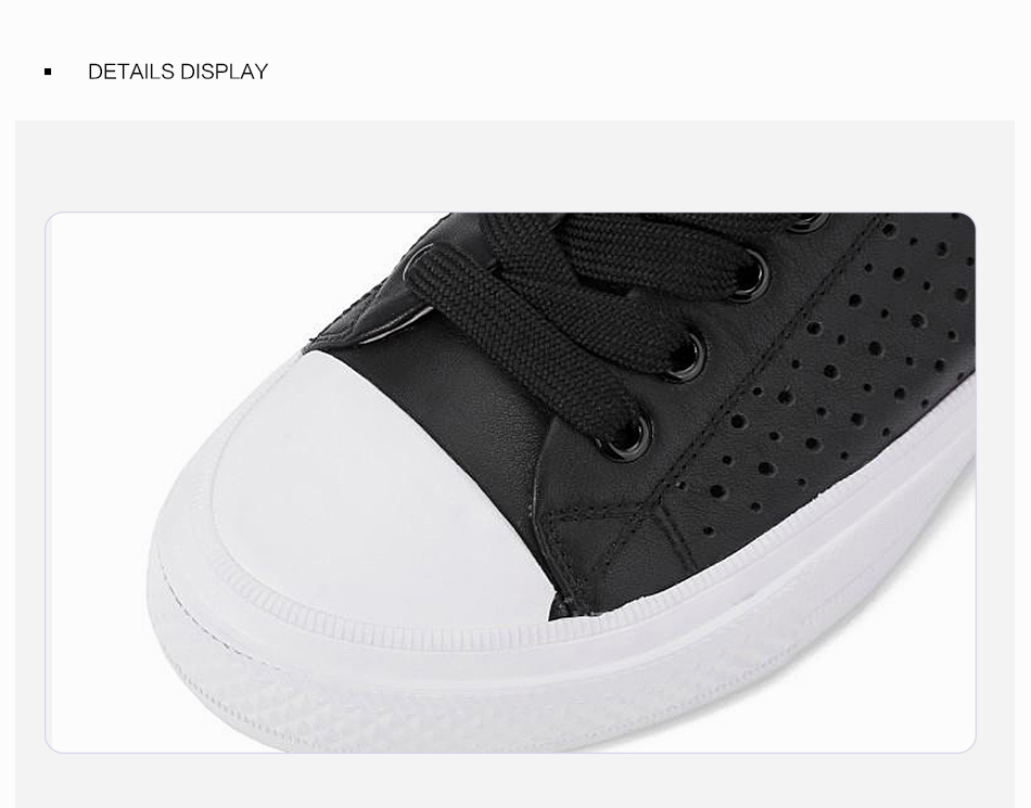 Donna-in 2019 New Women Flats Sneakers Genuine Leather Shoes Lace-up Cut-outs Flat Casual Women Shoes Hollow Summer Black White (9)