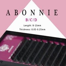 Abonnie все Размеры B/C/D/J Curl 1 лотки, Отдельные природные норки наращивания ресниц. Искусственные Поддельные Накладные ресницы