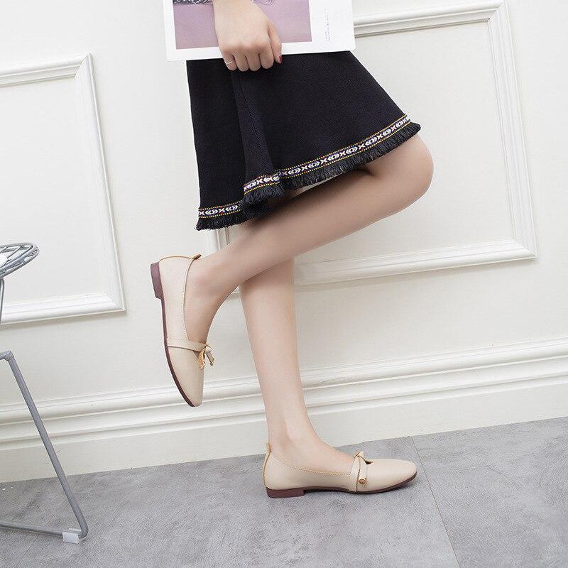 Carrée Sauvage Tête Étudiant 2018 Version Harajuku Plat Mode Nouvelle Chaussures Mary Coréenne De Jane La kaki Arc Beige q0PgC7Sx0w