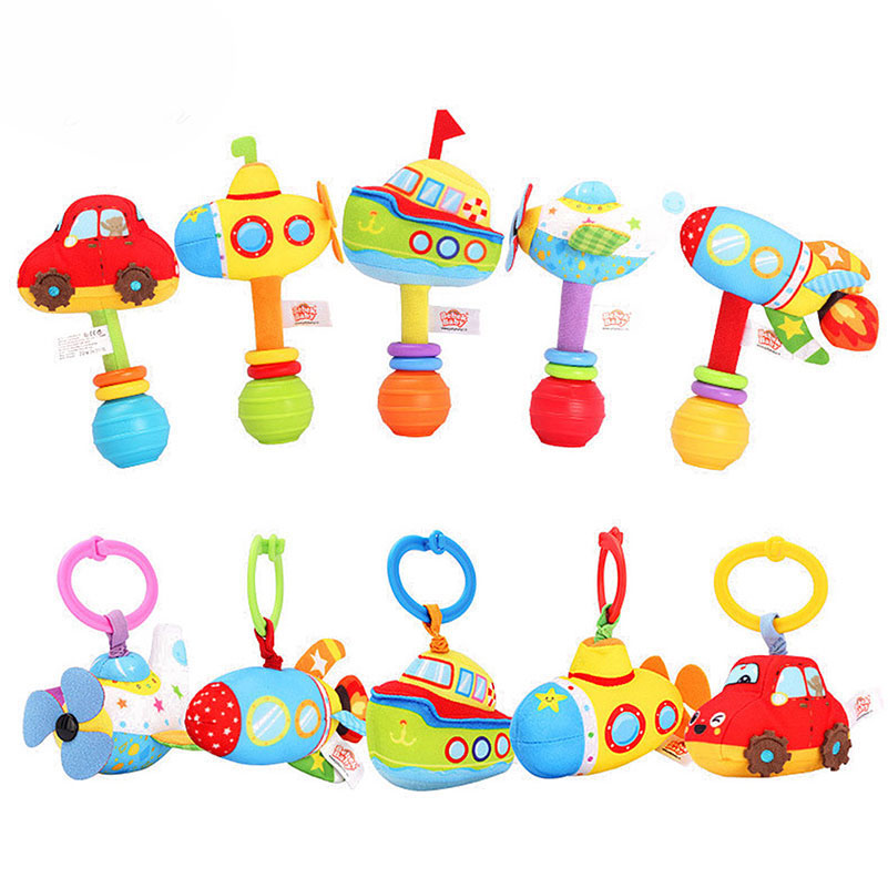 Earnest Baby Stuffed Cartoon Hand Rattle Bar Sticks Grab Plush Toy Infant Appease Puppet Handbell Intelligent Gifts Newborns Kids B0982 In Short Supply Baby & Toddler Toys Baby Rattles & Mobiles