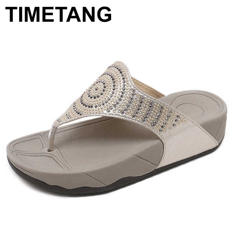 TIMETANG Summer new slopes and cool slippers Thick bottomed muffin and outdoors wearing a trifle slipper Water drill sandalsE394