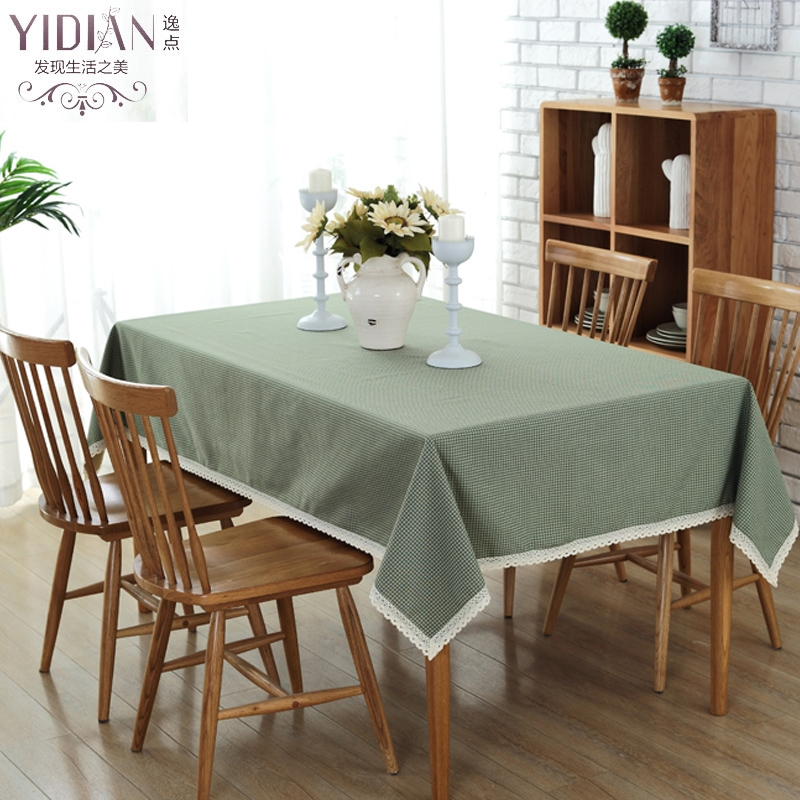 Multi Size Linen Plaid Pattern Tablecloth Decorative Elegant Table Cloth Cover Wedding Decoration