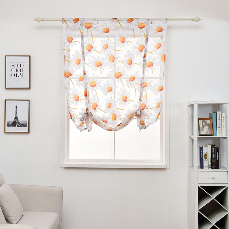 New Arrival Window Screening Short Curtain Drape Panel Sheer Tulle for Living Room Voile Divider