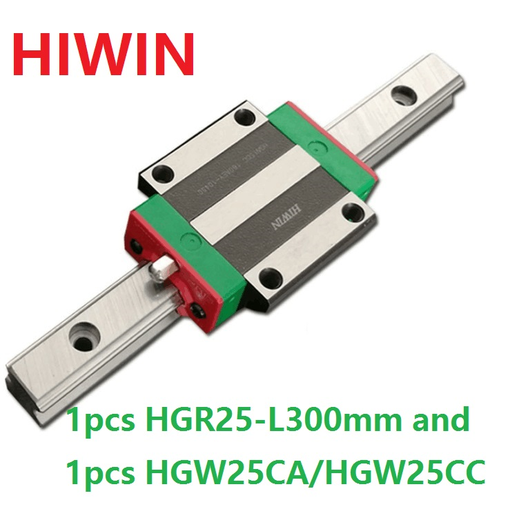 все цены на 1pcs 100% original Hiwin linear rail guide HGR25 -L 300mm + 1pcs HGW25CA HGW25CC flange block carriage for cnc онлайн