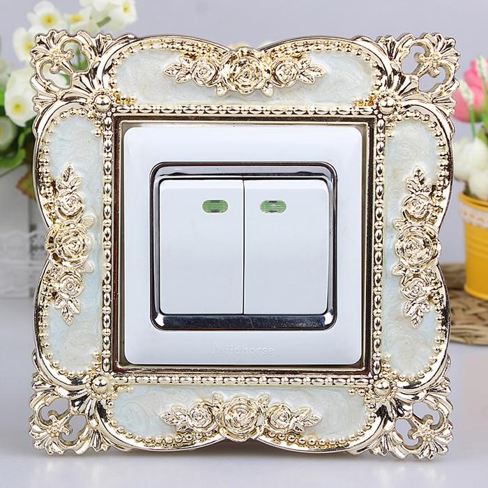 86 European Switch paste  Smart cover Acrylic  living room Socket sleeve Switch panel Decorating sleeve dustproof 1