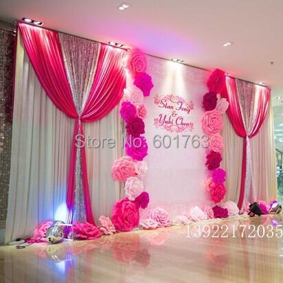 Wedding backdrops 32pcs different sizes combination shoft - Cortinas de papel para navidad ...