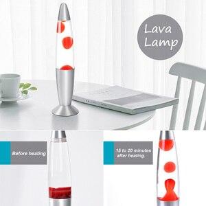 Image 4 - Hoomall 1 pc 터치 스위치 테이블 용암 램프 장식 야간 조명 침실 책상 야간 램프 사무실 홈 장식
