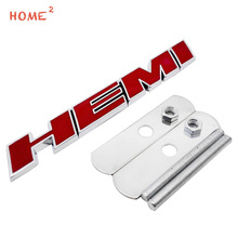 For HEMI Logo 3D Car Front Stickers Metal Grille Emblem Badge for Mercedes Benz w210 Ford fiesta Land Rover Jeep Grand Cherokee
