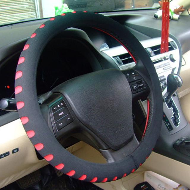 5 Colors  New EVA Punching Universal Car Steering Wheel Cover Diameter 38cm Automotive Sup