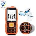 ZOYU Mayor teléfono 2G GSM teléfono móvil Dual tarjetas SIM al aire libre teléfono 2.4HD Radio FM tv teléfono 10800 mAh banco de la energía del teléfono celular