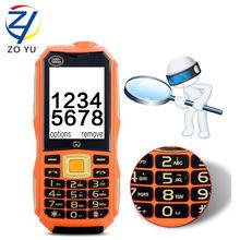 ZOYU Старший телефон 2 Г мобильный телефон Dual SIM карты открытый телефон 2.4HD FM Радио телевизор телефон 10800 мАч банк питания сотового телефона