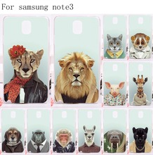 Good Selling Phone Cases Cover For Samsung Galaxy Note III 3 Note3 Cases Unique Plastic and Silicon Animal Tiger Lion Housing