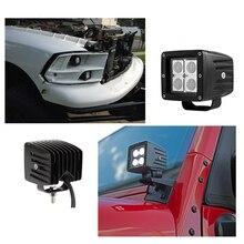 цена на ECAHAYAKU 1x 3 inch 12W LED WORK Light bar Car Off-road SPOT FLOOD lights 4x4 SUV ATV Golf Cart 12v 24v fog Driving Lamp Bulb