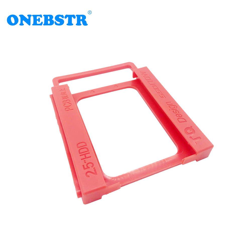 "10Pcs/lot 2.5"" SSD Hard Drive To 3.5"" Bay HDD Mounting Bracket Dock Tray Adapter Screw-free Installation Easy free shipping(China)"