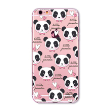 Cute Panda Phone Case iPhone 5 5S 6 6S Plus 7 7 Plus