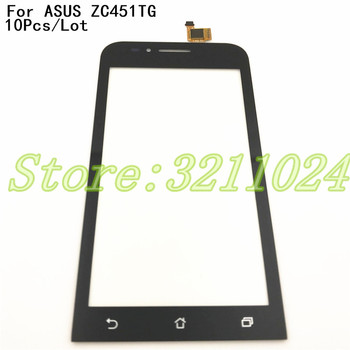10Pcs/Lot 4.5 inch Screen For ASUS ZenFone Go mini ZC451TG Z00SD Touch Screen Digitizer Sensor Outer Glass For ZC451 ZC 451TG