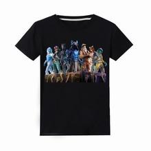 100% хлопковые футболки с короткими рукавами и круглым вырезом для мальчиков и девочек, футболки для детей, одежда для маленьких мальчиков, летние топы для девочек черного цвета