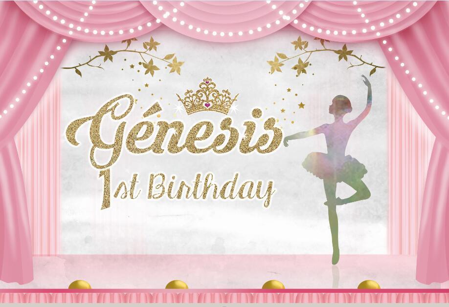 custom ballerina ballet theater princess birthday curtains