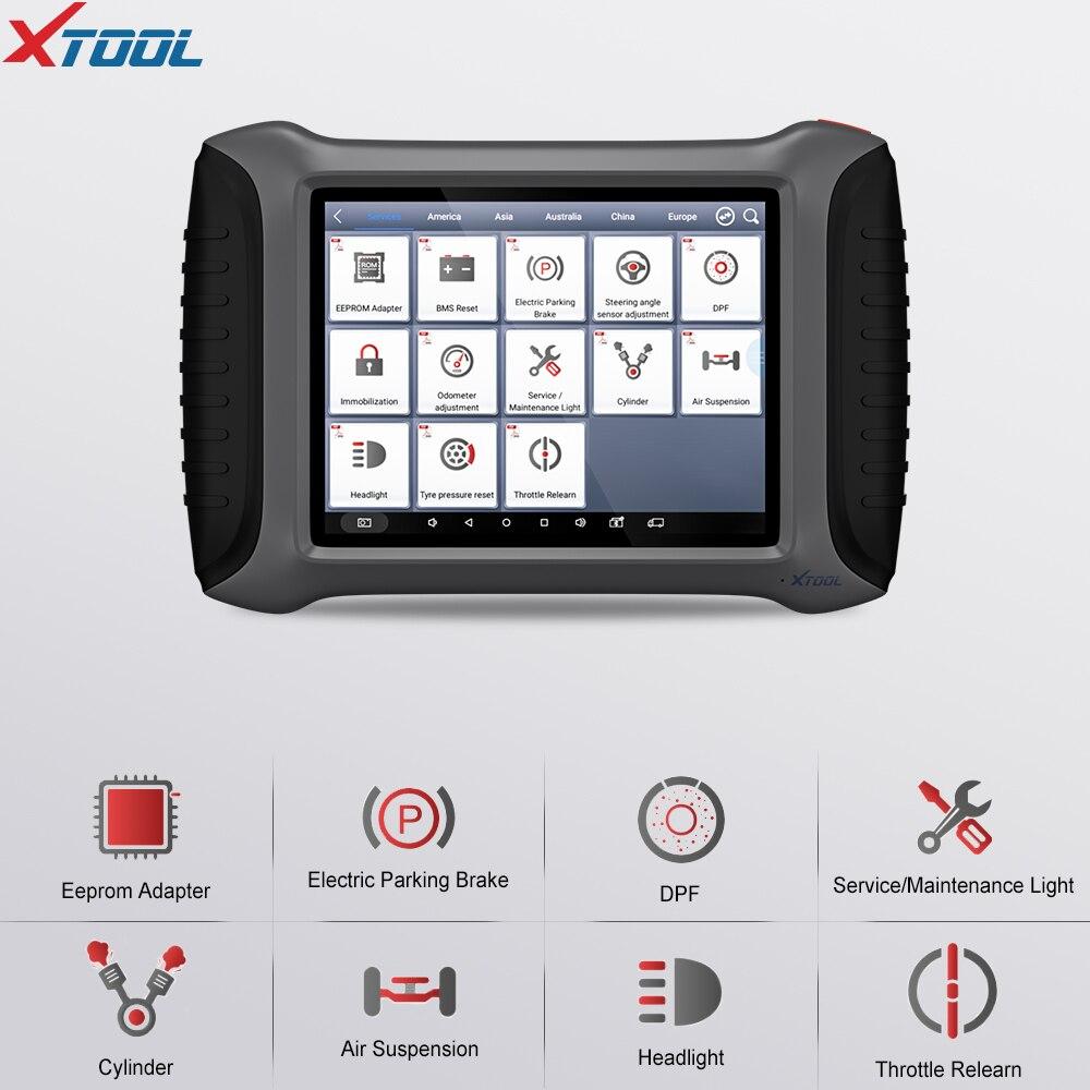 Herramienta de diagnóstico de sistema completo XTOOL A80 OBDII con función multifunción WiFi/Bluetooth actualización gratuita en línea OBD2 escáner automático