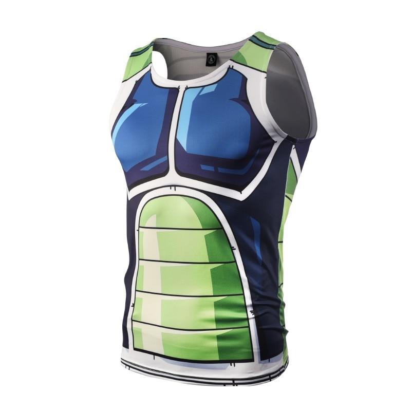 2018 Hombres Dragon Ball Z Vegeta Armor Camisetas sin mangas Culturismo Chaleco Fitness Camiseta sin mangas Hipster 3D Anime Tanks DBZ tank