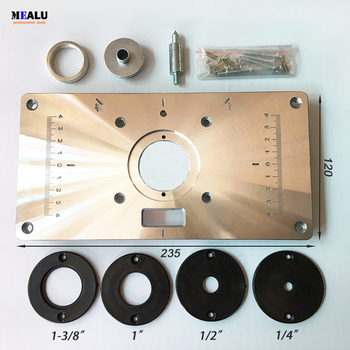 High hardness Aluminum Router Table Insert Plate For Popular Trimmers Routers DIY Woodworking - discount item  6% OFF Woodworking Machinery