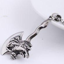 Панк ювелирные изделия Зодиак Дракон аакс кулон ожерелье 316L нержавеющая сталь мужские серебряные ювелирные изделия