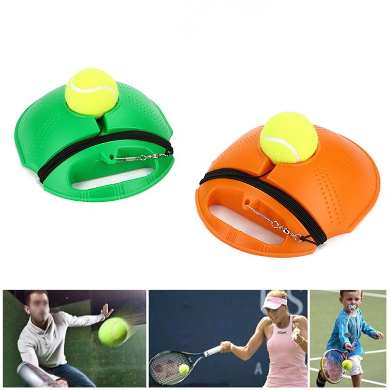 Сверхмощный Теннисный тренировочный инструмент Упражнение теннисный мяч спорт самообучающийся отскок мяч с теннисным тренером плинтус спарринг устройство