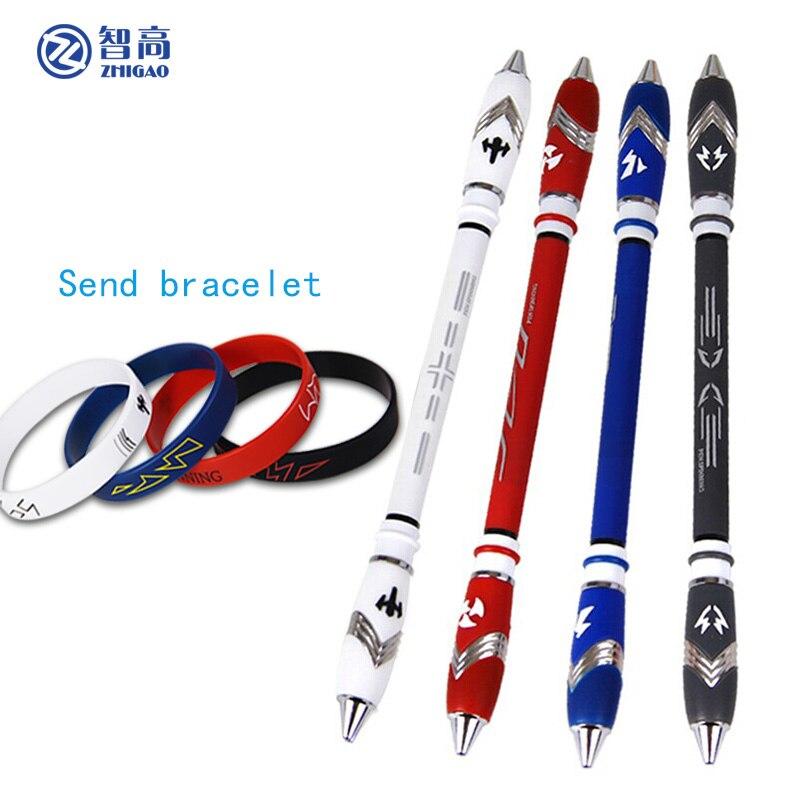 Zhigao papelaria escola V16 Spinning Pen Jogo Caneta Esferográfica Antiderrapante Revestido de Tinta Azul Caneta Caneta Dedo Jogando Rotação do Rolamento