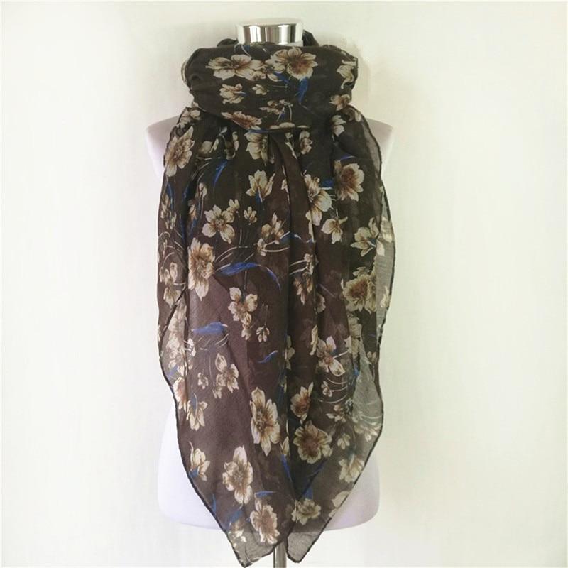 New Women scarf hot sale ladies lover flower scarf hot sale viscose scarf long Scarves